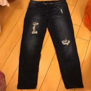 Woman's size 15 Dark ripped skinny jeans